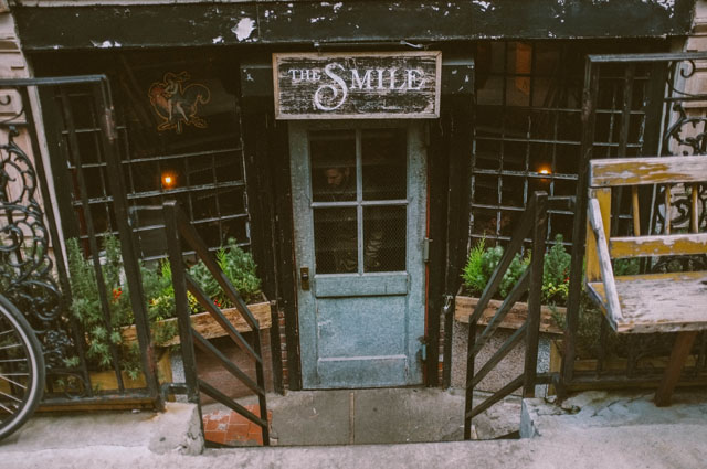 The Smile outside