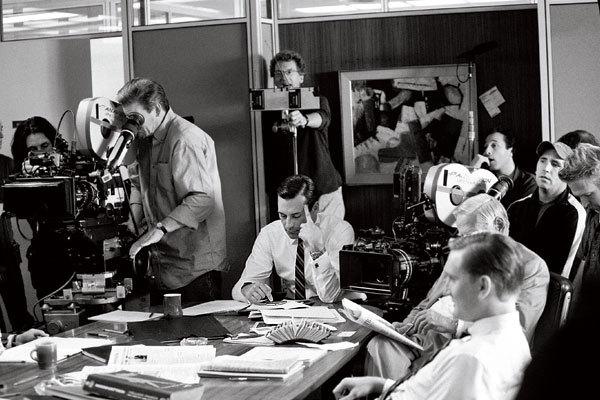 John Hamm on Mad Men set