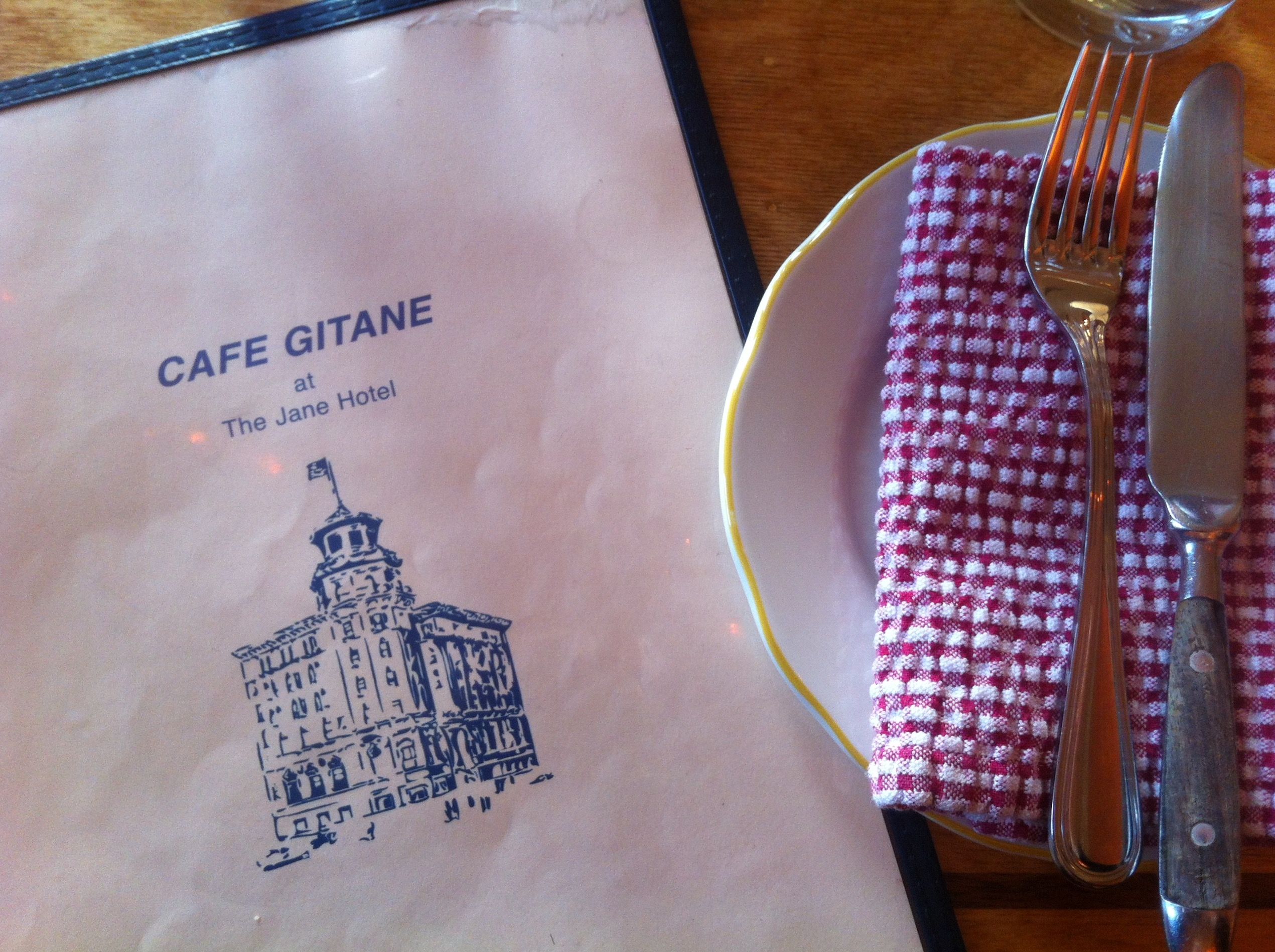 Cafe Gitane At The Jane Hotel Menu
