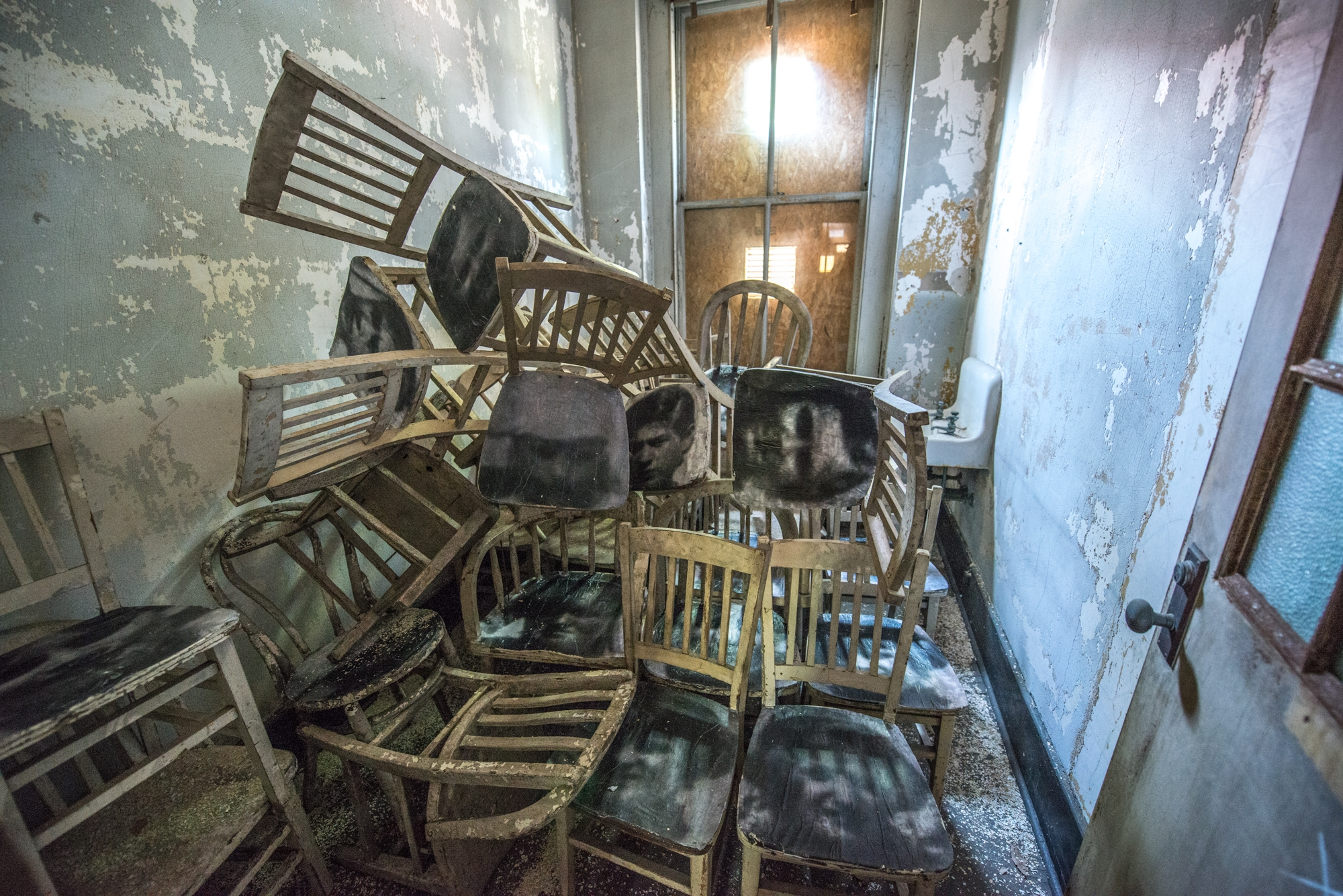 ghosts of ellis island chairs 2