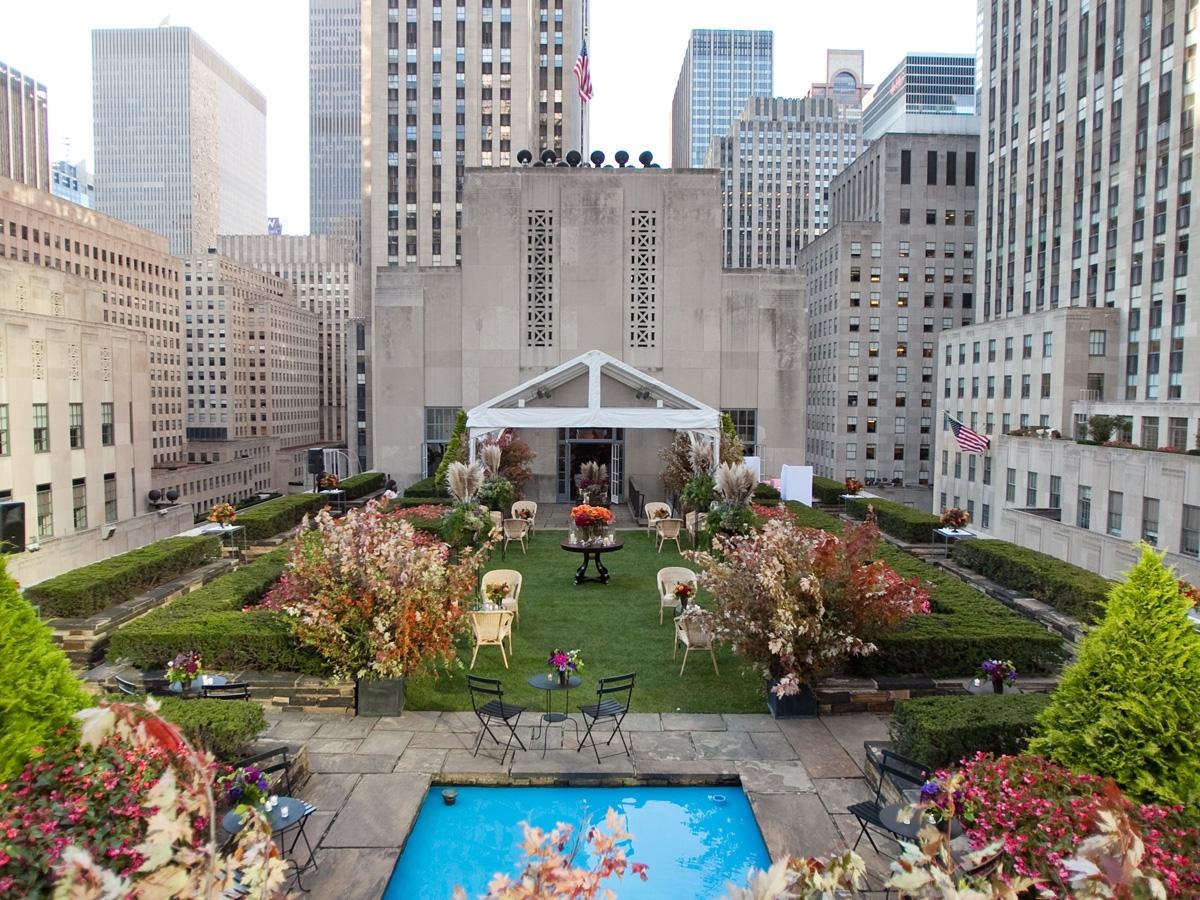 Rockerfeller Rooftop Garden NYC