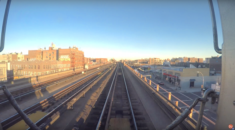 NYC subway time lapse