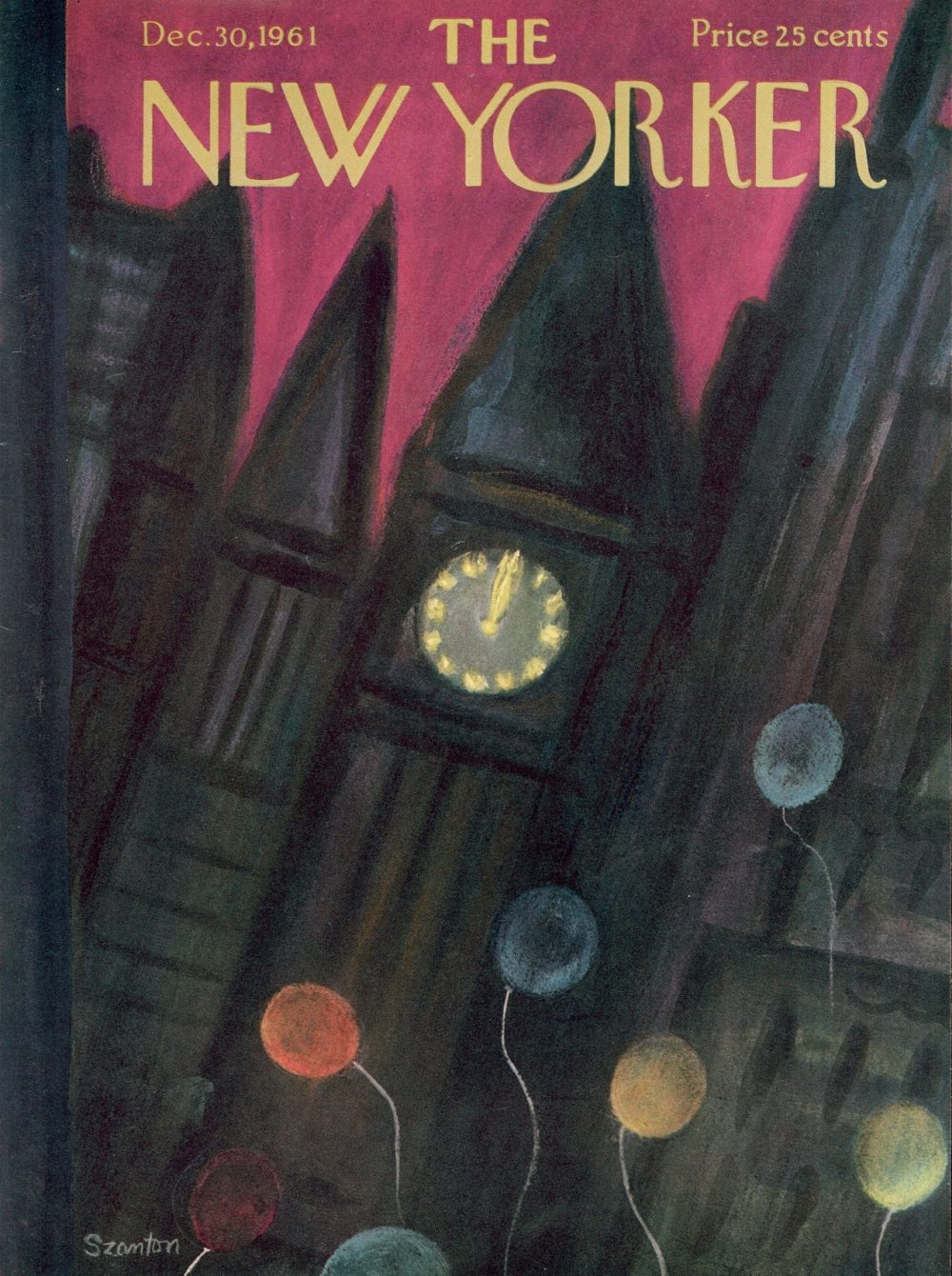 New Yorker magazine covers for the new year