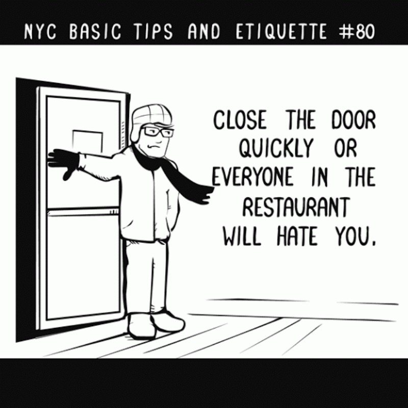 NYC tips and etiquette #80