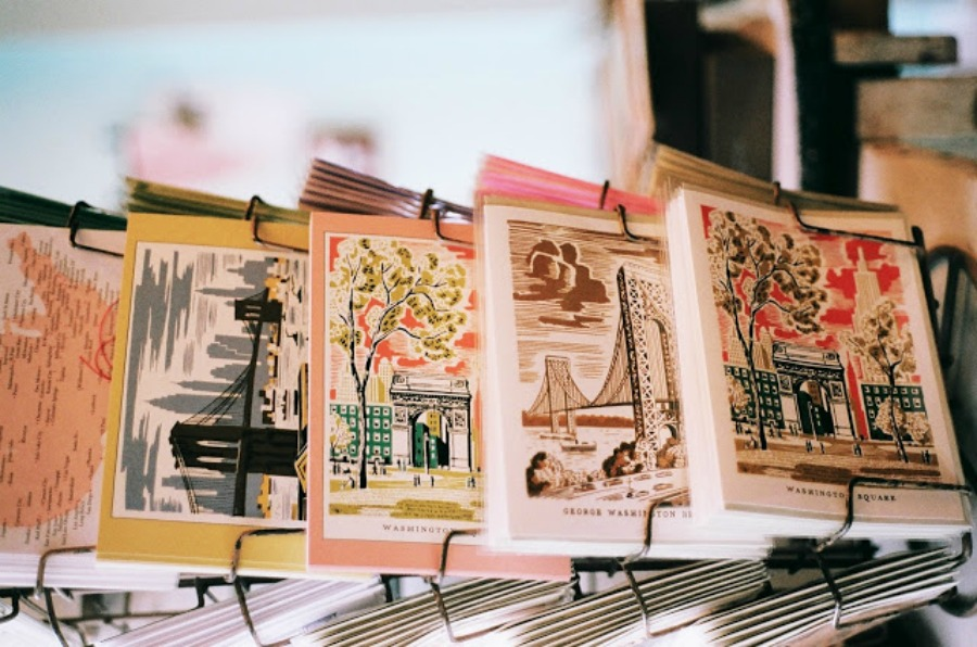 greenwich letterpress vintage postcards New York