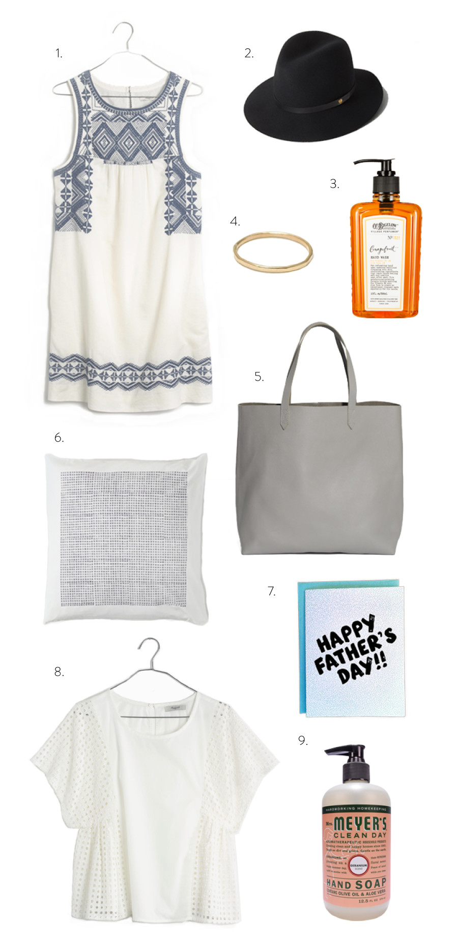New York shopping list