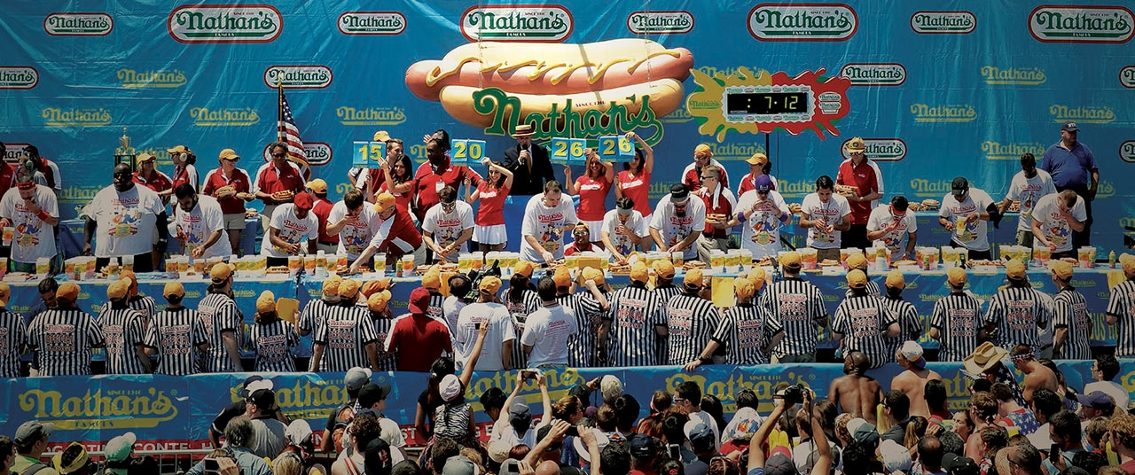 nathan hot dog eating competition