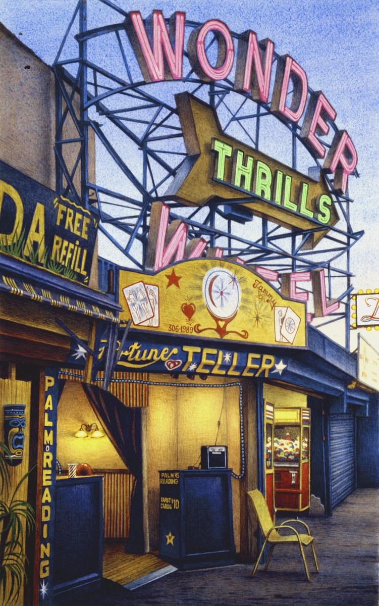 Fortune Teller, Jones Walk, Coney Island_Brosen