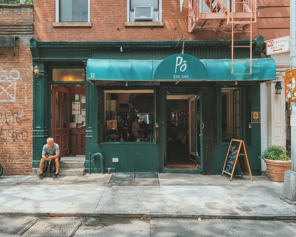 Po Restaurant Cornelia Street New York