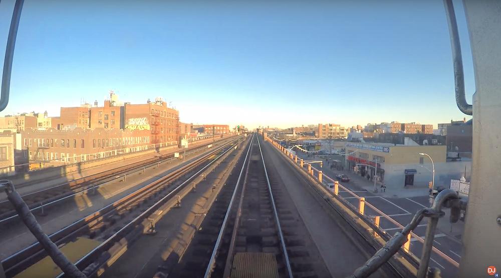 NYC subway time lapse