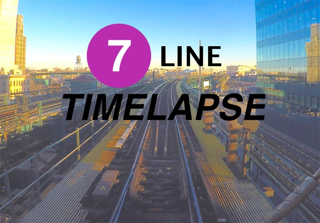 What the 7 line train saw timelappse