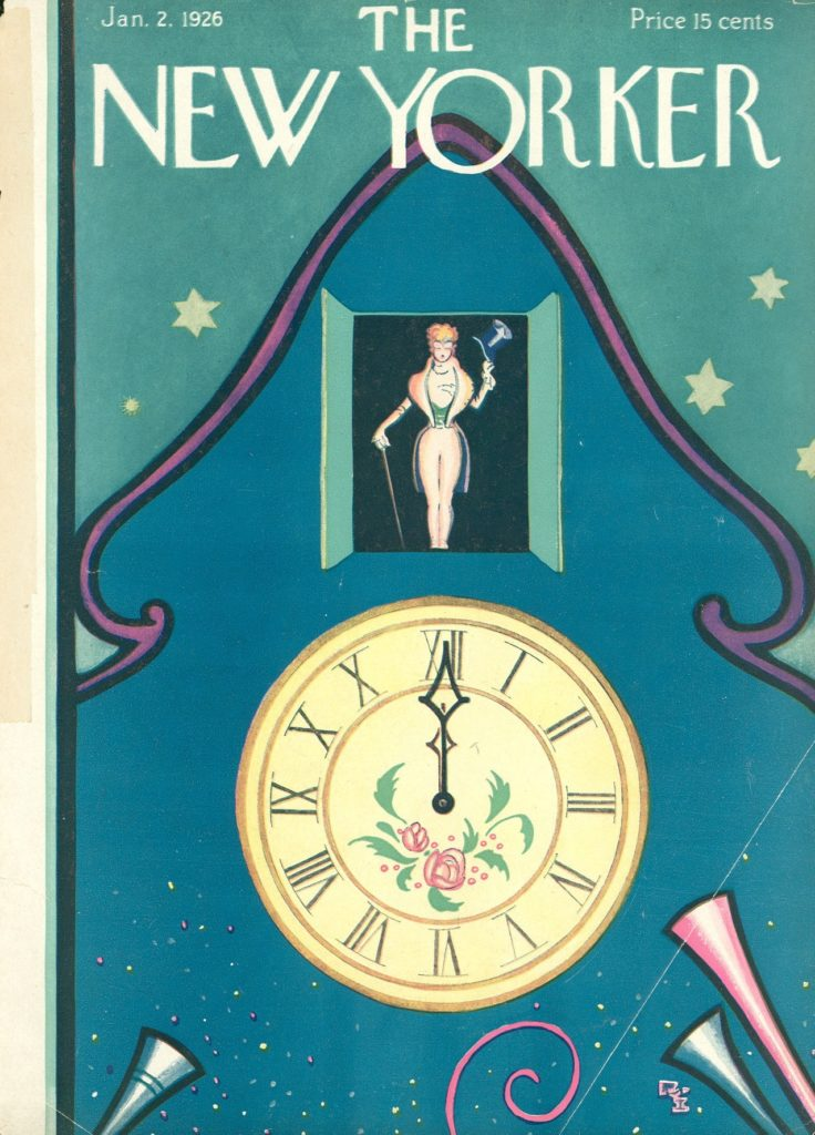 New Yorker new year magazine cover